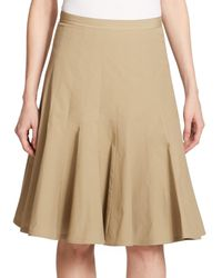 Marc By Marc Jacobs | Natural Pleated Poplin Skirt | Lyst