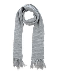 DIESEL | Gray Oblong Scarf for Men | Lyst