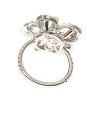 NSR Nina Runsdorf | Metallic Diamond & Yellow-Gold Flower Ring | Lyst