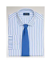 Polo Ralph Lauren - Blue Striped Poplin Regent Shirt for Men - Lyst