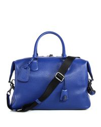 COACH | Blue Explorer Leather Duffel Bag for Men | Lyst