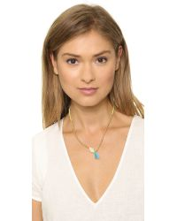 Chan Luu - Green Charm Beaded Necklace Neon Lime - Lyst