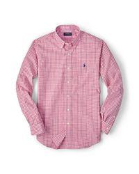 Polo Ralph Lauren | Pink Slim-fit Poplin Shirt for Men | Lyst