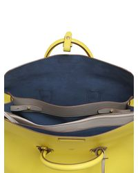 MCM | Yellow Milla Leather Top Handle Bag | Lyst