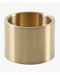 Marmol Radziner | Metallic Lightweight Solid Double Wide Ring | Lyst
