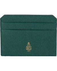 Mark Cross | Green Flat Card Case for Men | Lyst