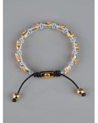 Nialaya - Yellow Skull Bead Bracelet - Lyst