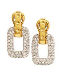 Roberto Coin - Metallic Pois Moi Diamond Square Dangle Drop Earrings - Lyst