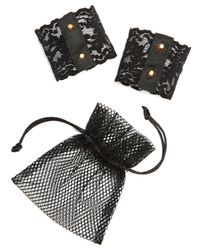 Hanky Panky - Black After Midnight Studded Cuffs  - Lyst