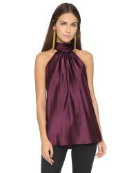 Ramy Brook | Purple Paige Sleeveless Blouse - Cranberry | Lyst