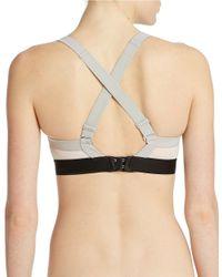 Calvin Klein   White Colorblock Convertible Sports Bra   Lyst