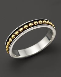 Lagos | Metallic 18K Gold And Sterling Silver Enso Stack Ring | Lyst