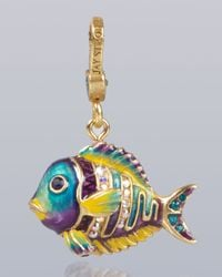 Jay Strongwater - Blue Linus Tropical Fish Charm - Lyst