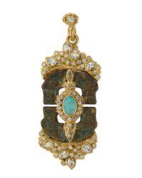 Armenta - Metallic Sueño Blue Turquoise & Rainbow Moonstone Doublet Artifact Enhancer for Men - Lyst