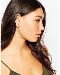 Pieces - Metallic & Julie Sandlau Animal Cut Out Gold Plated Jiu Stud Earrings - Lyst