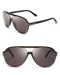 Tom Ford | Black Sergio Aviator Sunglasses | Lyst