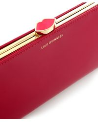 Lulu Guinness | Red Framed Polished Purse | Lyst