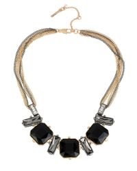 Kenneth Cole - Multicolor Geometric Faceted Bead Frontal Necklace - Lyst