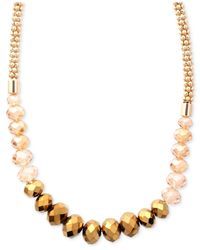 Jones New York - Metallic Gold-Tone Beaded Collar Necklace - Lyst