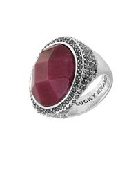 Lucky Brand | Modern Shine Red Jade Ring | Lyst
