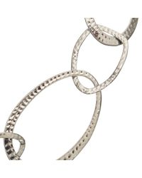 John Lewis | Metallic Hammered Circles Long Necklace | Lyst