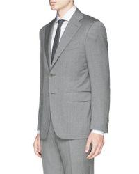 Canali - Gray 'capri' Wool Twill Suit for Men - Lyst