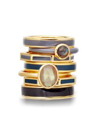 Astley Clarke - Blue Thundercloud Centime Ring - Lyst
