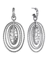 John Hardy | Metallic Kali Zen Multi-tier Hoop Earrings | Lyst