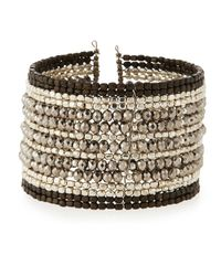 Nakamol | Multicolor Multi-row Beaded Wire Cuff Bracelet | Lyst