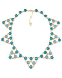 Carolee | Metallic Gold-tone Blue Stone Starburst Collar Necklace | Lyst