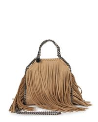 Stella McCartney - Metallic Tiny Bella Fringe Foldover Shoulder Bag - Lyst