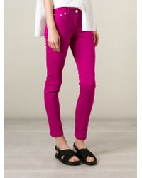 KENZO - Pink Skinny Jeans - Lyst
