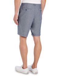 Original Penguin - Blue Oxford Shorts for Men - Lyst