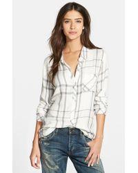 Rails - White 'Hunter' Oversized Plaid Shirt - Lyst