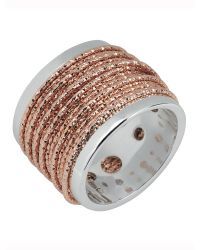Links of London | Metallic Celeste Wide Wrap Rose Gold Ring | Lyst