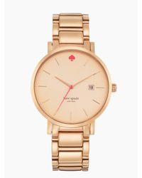 kate spade new york   Pink Gramercy Grand Watch   Lyst