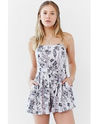 Kimchi Blue - Multicolor Rosey Posey Romper - Lyst
