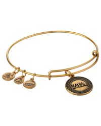 ALEX AND ANI | Metallic Zeta Tau Alpha Charm Bangle | Lyst