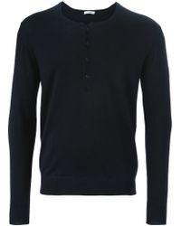 Paolo Pecora - Blue Henley Sweater for Men - Lyst