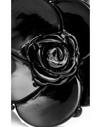 Oscar de la Renta | Black Resin Flower Bracelet | Lyst