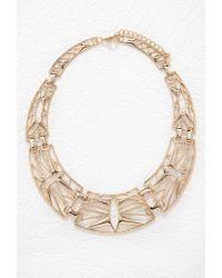 Forever 21 | Metallic Cutout Statement Necklace | Lyst