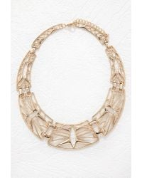 Forever 21 - Metallic Cutout Statement Necklace - Lyst