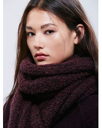 Free People | Brown Womens Scrabble Scarf | Lyst