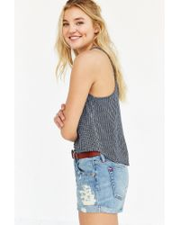 BDG - Blue Bayley Button-back Tank Top - Lyst