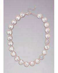 Bebe - Metallic Crystal Statement Necklace - Lyst