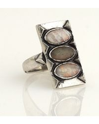 House of Harlow 1960 | Metallic Moonstone And Labradorite Ring | Lyst