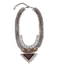 DANNIJO | Metallic Silver Crystal Joss Necklace | Lyst
