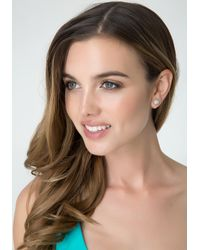 Bebe - Metallic Front Back Crystal Earrings - Lyst