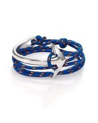 Miansai | Multicolor Half Anchor Cuff Rope Bracelet/Silvertone | Lyst