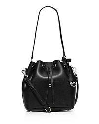 MICHAEL Michael Kors | Black Greenwich Medium Bucket Bag | Lyst